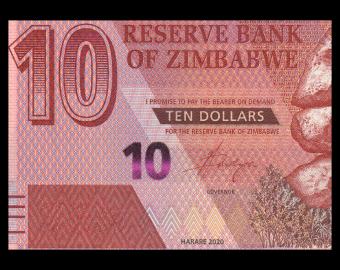 Zimbabwe, P-103, 10 dollars, 2020