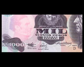 Uruguay, P-064Ab, 1000 peso, 1992