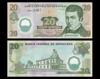 Honduras, P-095, 20 lempiras, 2008, polymre