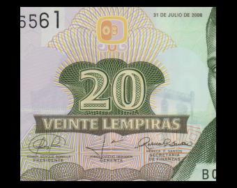 Honduras, P-95, 20 lempiras, 2008, polymre