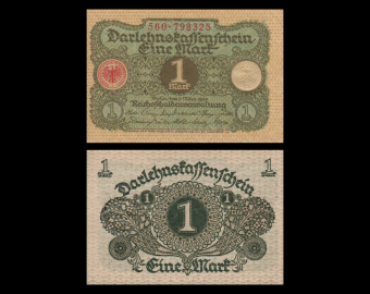 Allemagne, p-58, 1 Mark, 1920