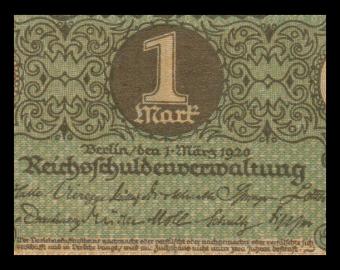 Allemagne, P-058, 1 Mark, 1920