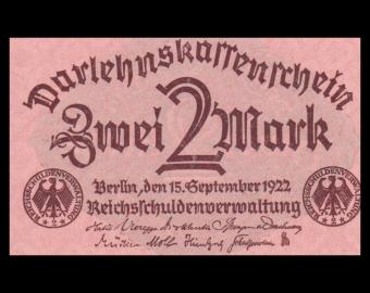Allemagne, P-062, 2 Mark, 1922