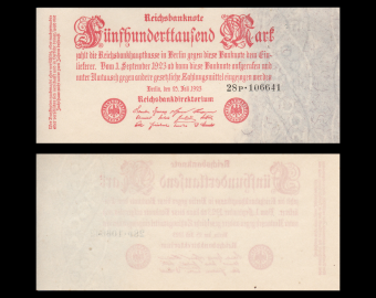 Germany, P-092b, 500 000 Mark, 1923