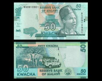 Malawi, P-64e, 50 kwacha, 2018