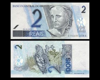 Brazil, P-249h, 2 reals, 2012