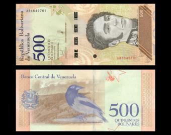 Venezuela, P-108b, 500 bolívares soberanos, 2018