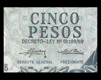 Argentina, P-294(2), 5 pesos, 1974