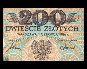 Poland, P-144c1, 200 zlotych, 1988