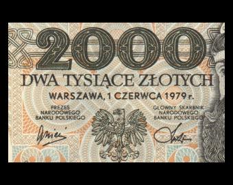 Poland, P-147b, 2000 zlotych, 1979