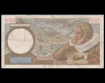 France, P-094, 100 francs, Sully, 1942, TB / Fine