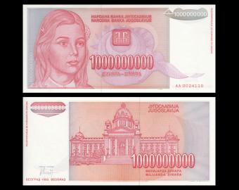 Yougoslavie, P-126, 1 000 000 000 dinara, 1993.