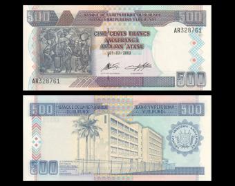 Burundi, P-38c, 500 francs, 2003