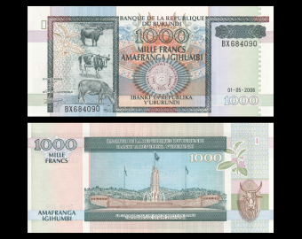 Burundi, P-39d, 1000 francs, 2006