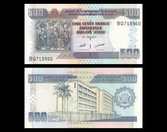 Burundi, P-45b, 500 francs, 2011
