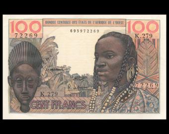 Banque Centrale des Etats d'Afrique de l'Ouest, P-02b, 100 francs, 1962, SUP / Extremely Fine