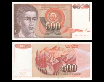 Yougoslavie, P-109, 500 dinara, 1991