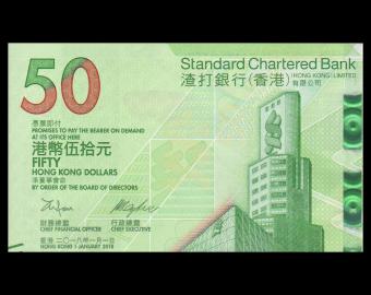 HongKong, P-303, 50 dollars, 2018
