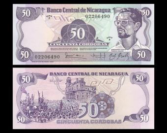 Nicaragua, P-140, 50 cordobas, R.1984