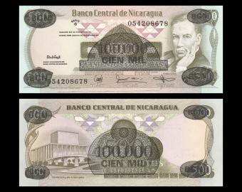Nicaragua, P-149, 100000 cordobas, 1987