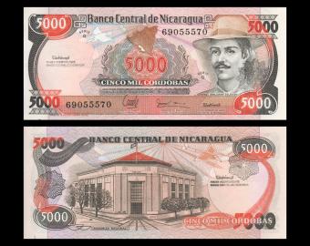 Nicaragua, P-157, 5000 cordobas, Res. 11.06.1985