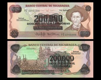 Nicaragua, P-162, 200.000 cordobas, 1990