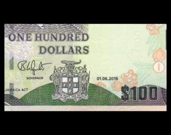 Jamaica, P-95c, 100 dollars, 2016