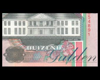 Suriname, P-141b, 1000 gulden, 1995