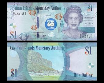 Cayman Islands, P-44, 1 dollar, 2018