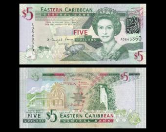 Eastern Caribbean, P-47, 5 dollars, 2008