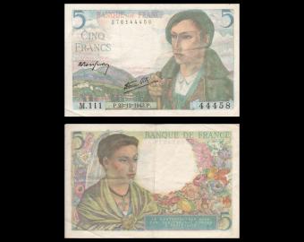 France, P-098a, 5 francs, 1943