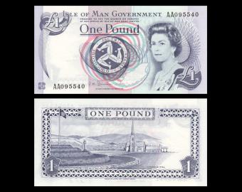 Isle of Man, P-40c, 1 pound, 2009