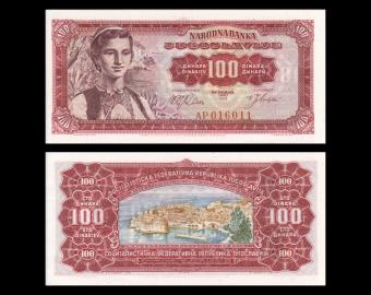 Yugoslavia, P-073, 100 dinara, 1963