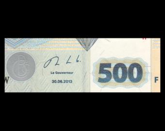 Congo, P-096b, 500 francs, 2013