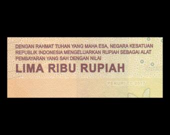 Indonesia, P-156b, 5000 rupiah, 2017