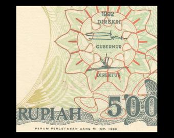 Indonesia, P-128h, 500 rupiah, 1999