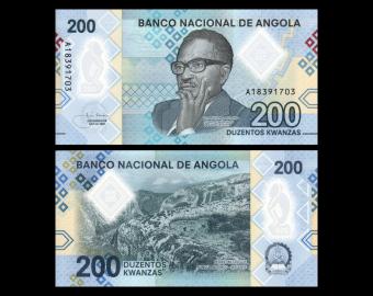 Angola, P-New, 200 kwanzas, 2020, polymère