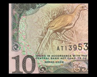Trinidad & Tobago, P-43, 10 dollars, 2002