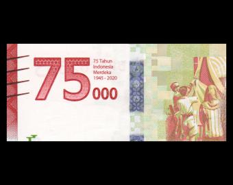 Indonesia, P-161, 75 000 rupiah, 2020
