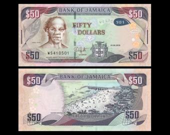 Jamaica, P-94d, 50 dollars, 2018
