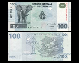 Congo, P-92A, 100 francs, 2000