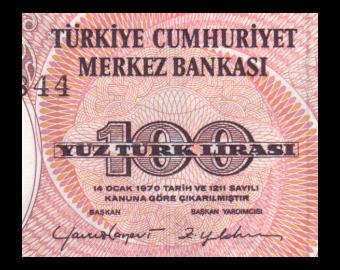 Turkey, P-194b, 100 lira, 1984