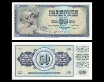 Yougoslavie, P-089b, 50 dinara, 1981