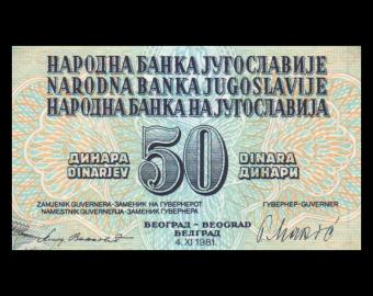 Yugoslavia, P-089b, 50 dinara, 1981