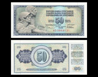 Yougoslavie, P-089a, 50 dinara, 1978