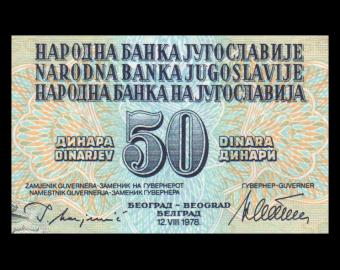 Yugoslavia, P-089a, 50 dinara, 1978
