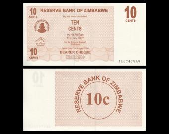 Zimbabwe, P-035, 10 cents, 2006