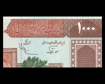 I, P-138f, 1.000 rials, 1989