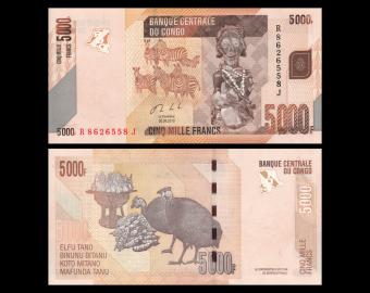 Congo, P-102b, 5000 francs, 2013