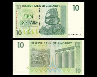 Zimbabwe, P-067, 10 dollars, 2007